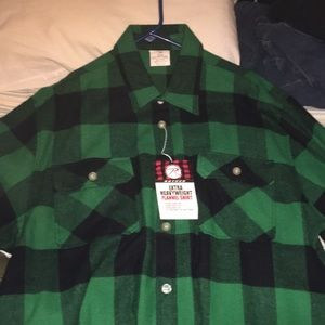 Green flannel size 2XL